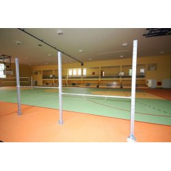 Free-standing, 2-field gymnastic bar