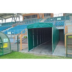 Telescopic tunnel for football field